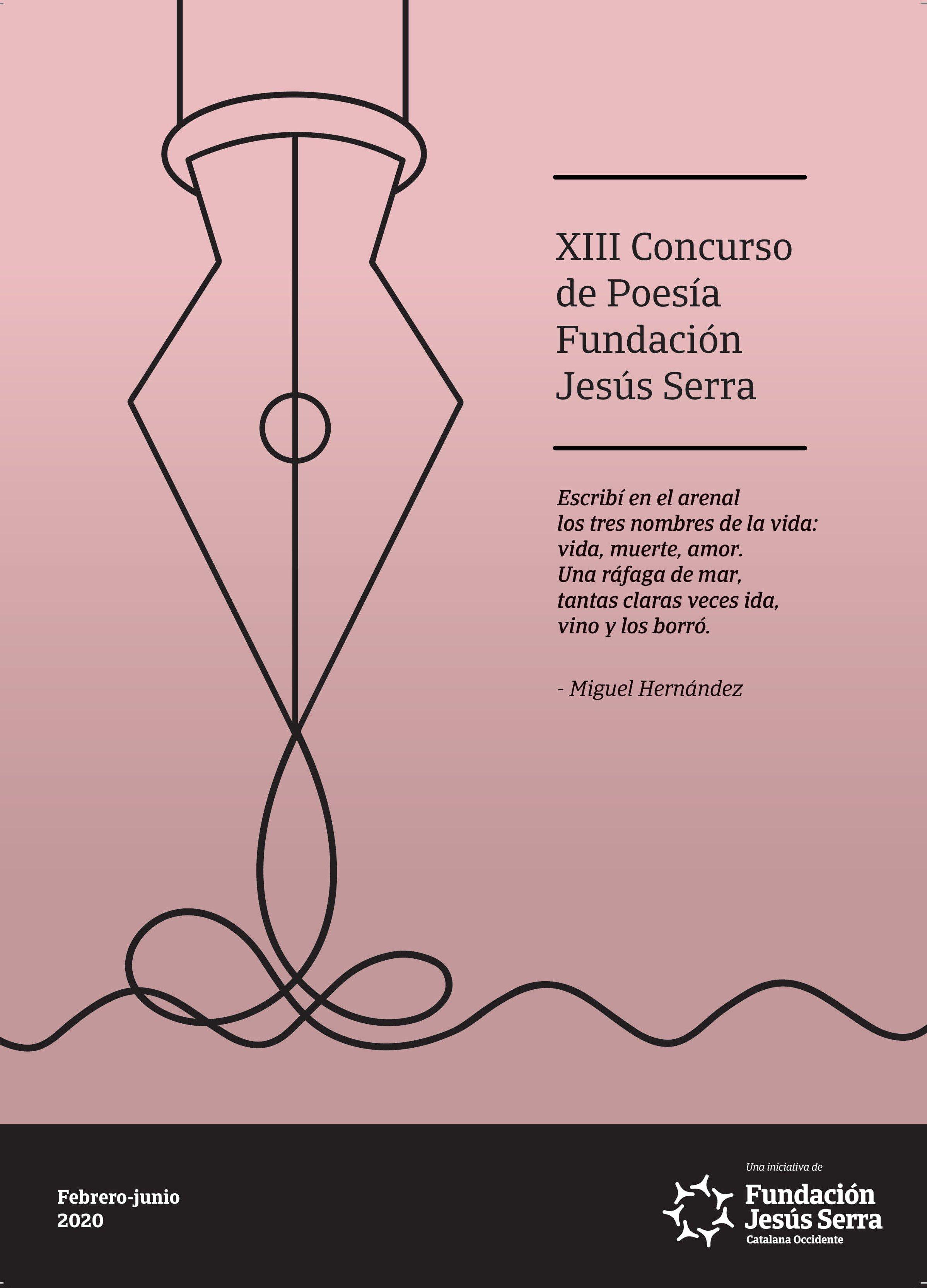 Cartel X Concurso de Poesía Fundación Jesús Serra