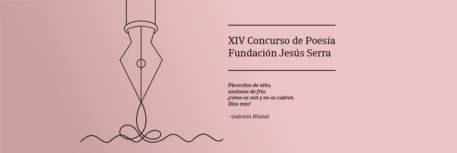 Fundación Jesús Serra Poetry Competition 2020