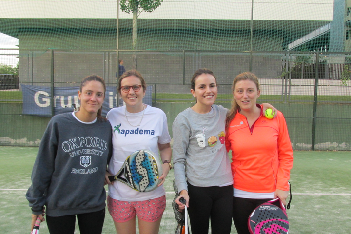 Charity paddle tennis tournament for the Apadema association