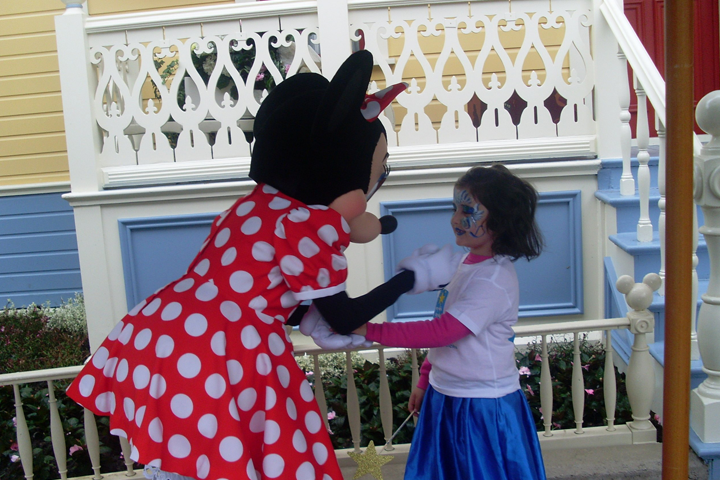 I want to meet Minnie Mouse