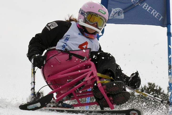 Competición de esquí alpino y snowboard GS