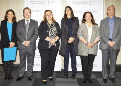 Reunión de deliberación del jurado con Laura Halpern, Directora de la Fundación Jesús Serra