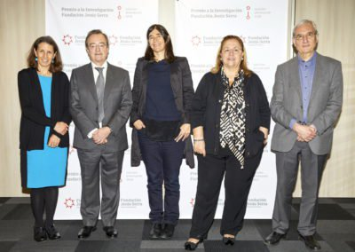 Reunión de deliberación del jurado de la 1.ª edición de los Premios a la investigación Fundación Jesús Serra