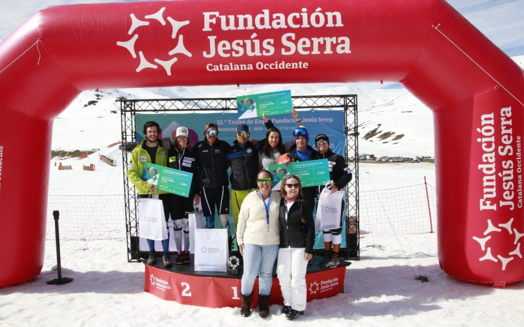 La Fundación Jesús Serra bate récord de participación en su 12º Trofeo de Esquí en Baqueira Beret